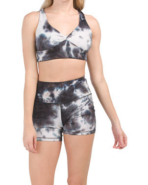 Tie Dye Demi Cup Sports Bra And Booty Short Collection
