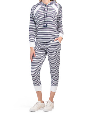 Stripe Lounge Hoodie And Pants Collection