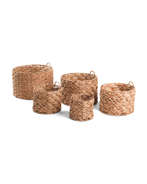 Water Hyacinth X Twisted Weave Basket Collection