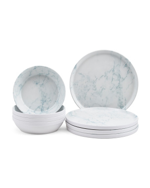 Marble Melamine Dinnerware Collection