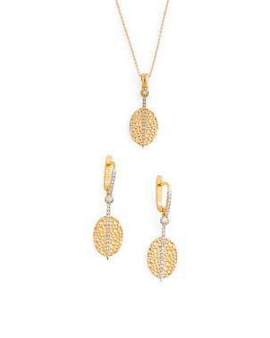 Gold And Diamond Oval Collection